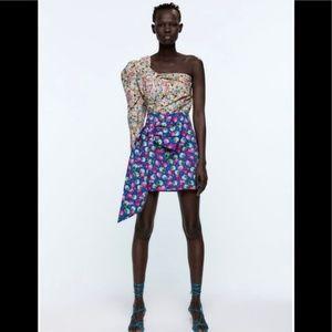 Zara Floral Skirt NWT